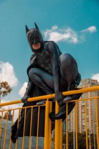 a hero image of batman - humorously depicting a hero image.